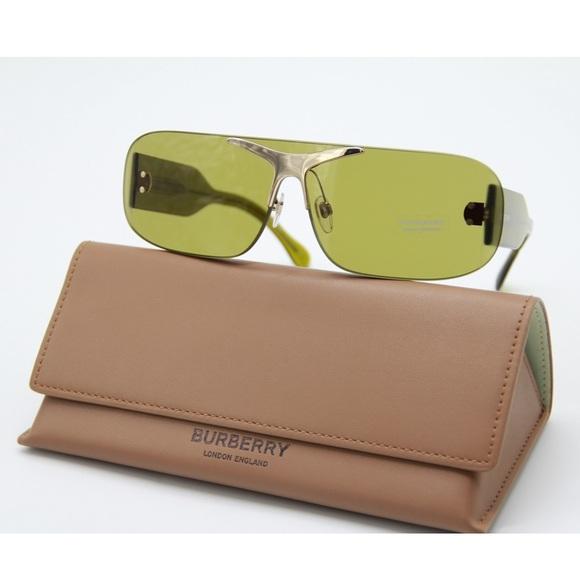 New BURBERRY BE3123 3917/2 Green Sunglasses